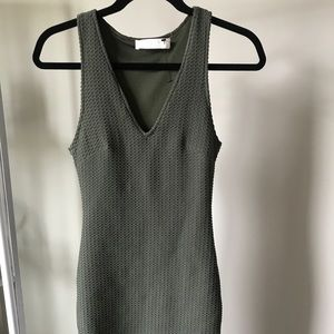 Forest Green Textured Mini Dress. Never worn.